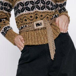 Zara sparkly belt